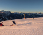 The Kronplatz – plan de corones holiday region in winter